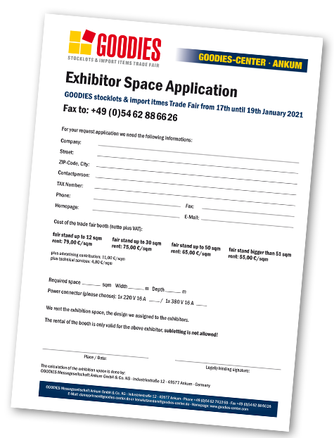 trade fair booth registration form
